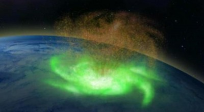 Cientistas comprovam furacão espacial acima do Polo Norte
