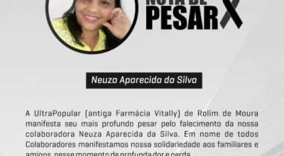Rolim de Moura: Drogaria Ultra Popular comunica o falecimento de Neuza Aparecida da Silva