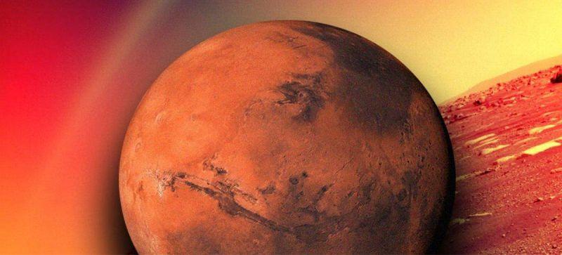 Arco-íris em Marte?