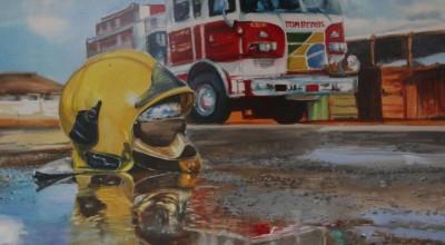 Exposição retrata o dia a dia do trabalho dos bombeiros em Brasília