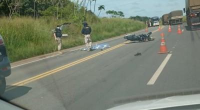 (VIDEO): Pai morre e filho fica em estado grave em acidente na BR-364