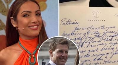 Patrícia Poeta revela carta que recebeu de Tom Cruise