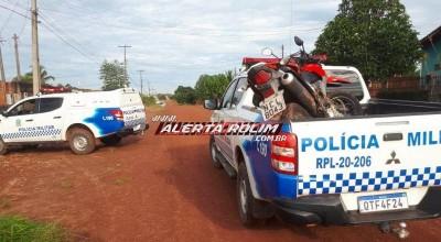 Poucos minutos após roubo, moto é recuperada pela Polícia Militar em Rolim de Moura