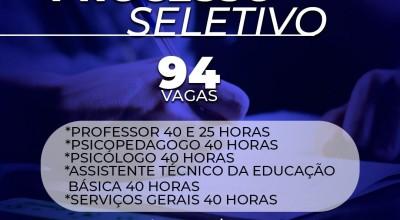 Prefeitura de Rolim de Moura abre processo seletivo para educação com 94 vagas