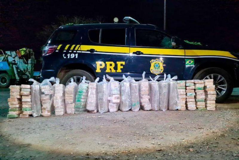 PRF apreende no Mato Grosso 200 quilos de cocaína que foram carregadas em Rolim de Moura