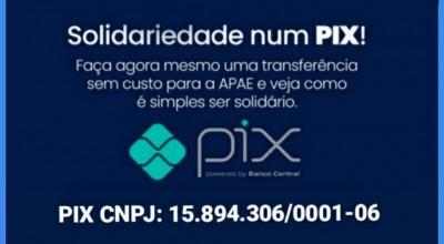 Ajude o Centro Educacional (Apae) e faça uma doação através do Pix