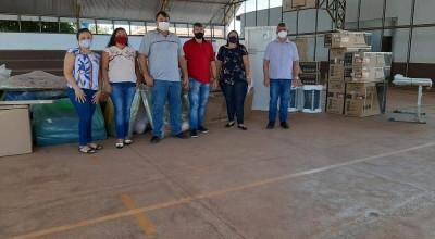 Nova Estrela: Vereador Eliomar Monteiro acompanhe entrega de equipamentos para escola Pequeno Príncipe