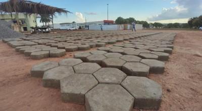Começa a construção da feira livre do bairro Centenário em Rolim de Moura
