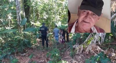 Corpo de homem de 76 anos que estava desaparecido em Vilhena é encontrado