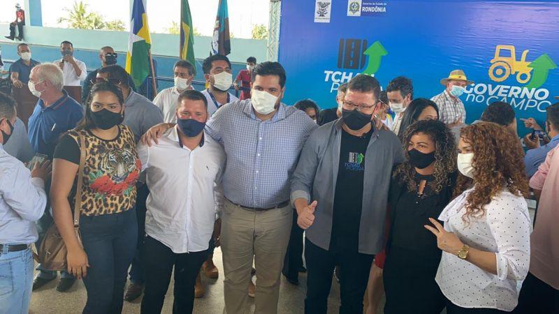 Jean Oliveira cumpre agenda com o governador em Seringueiras e São Miguel do Guaporé