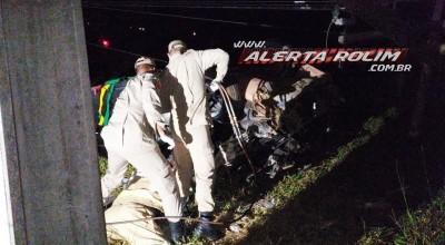 Passageira é socorrida com suspeita de fratura na coluna após grave acidente em Rolim de Moura