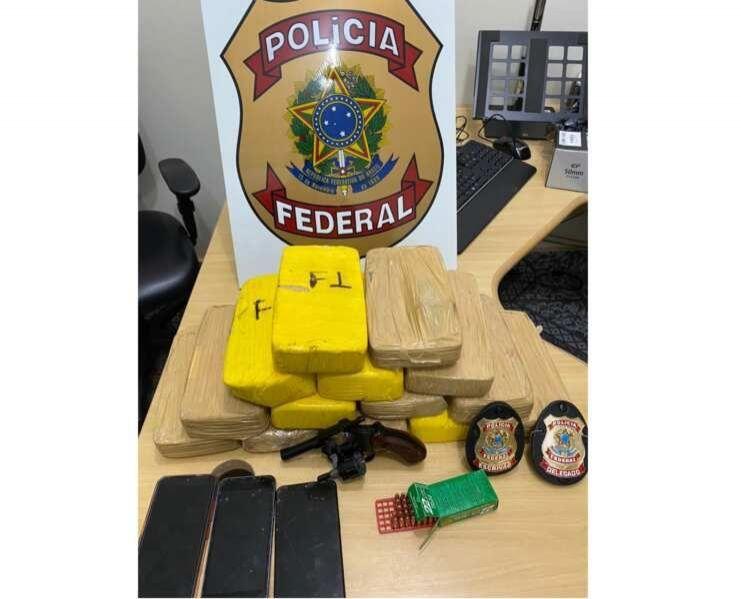 PF prende homem com 14 kg de cocaína e de posse ilegal de arma de fogo em RO