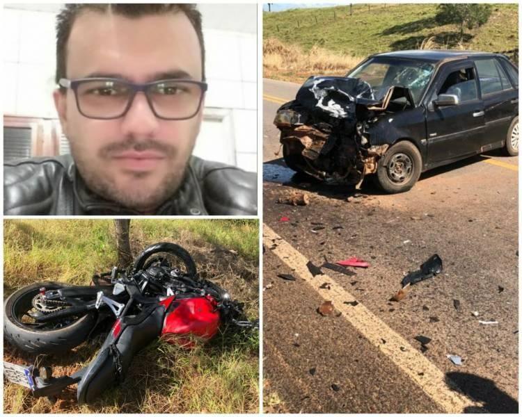 Sitiante de 42 anos morre após batida entre motocicleta e carro na BR 435
