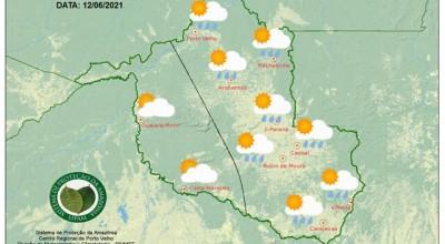 Temperaturas serão amenas neste sábado em Rondônia, diz Sipam