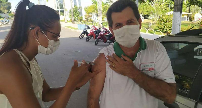 Vereador Dr. Paulo comemora vacinação para profissionais da imprensa de Cacoal