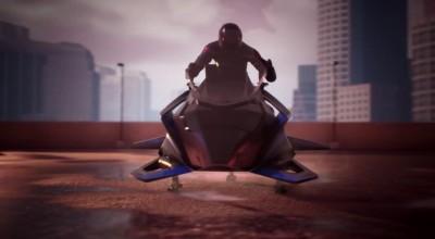 A primeira moto voadora do mundo alcança quase 500 km/h