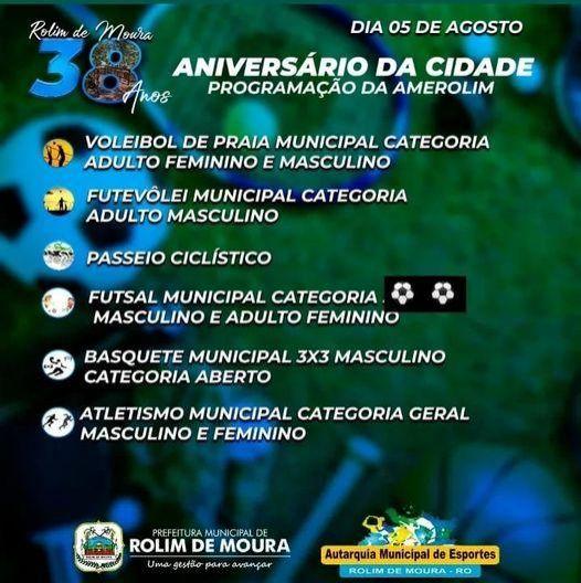 Abertas inscrições para Circuito Esportivo em Rolim de Moura