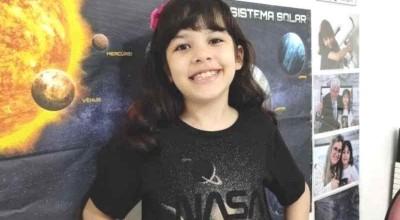 Brasileira de oito anos integra programa da Nasa