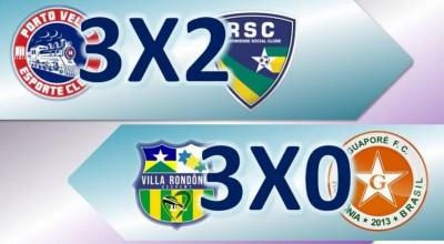 Porto Velho supera o Rondoniense e Villa Rondônia goleia o Guaporé