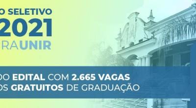 Unir divulga edital de seleção e oferece 2.665 vagas em 64 cursos de graduação