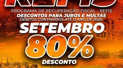 Rolim de Moura: Secretaria Municipal de Fazenda alerta que desconto de 80% de juros e multas do REFIS termina no próximo dia 30
