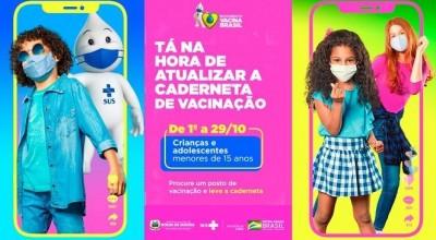 Semusa lembra da campanha de multivacinação e convoca pais para atualizar cartão de vacina das crianças e adolescentes
