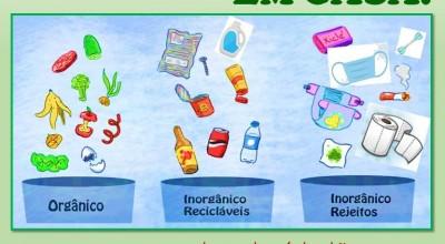 Campanha de Conscientização sobre Resíduos Sólidos orienta separação de lixo em casa