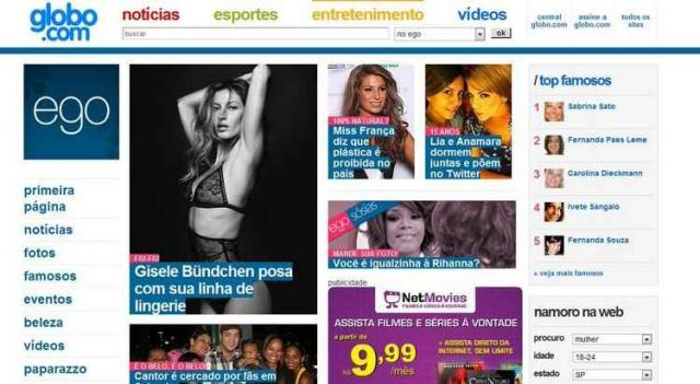 Globo extingue os portais 'Ego' e 'Paparazzo'