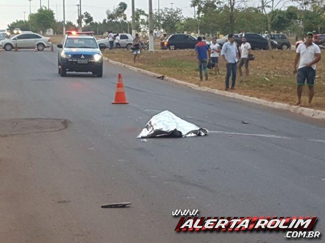 Pedestre morre atropelado por ônibus em Rolim de Moura