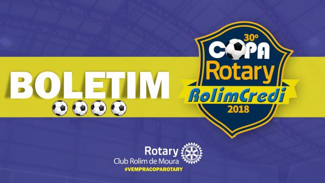 Boletim 30º Copa Rotary: Rodada terça 17/04/2018
