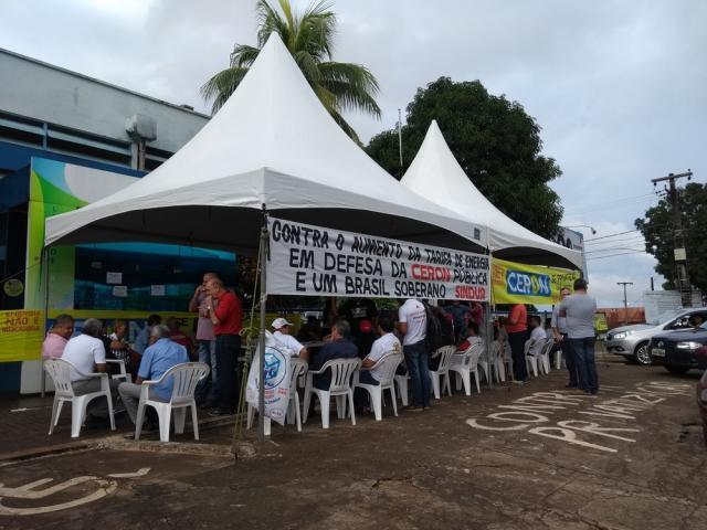 Eletrobras e Eletronorte paralisam atividades durante 24 horas em Rondônia