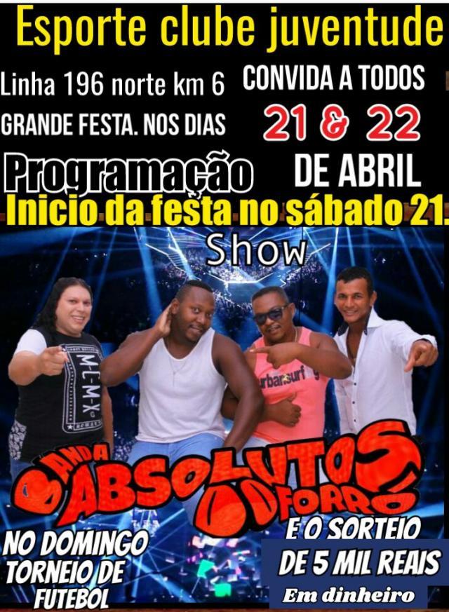 Festa do Esporte Clube Juventude acontece dia 21 e 22 deste mês