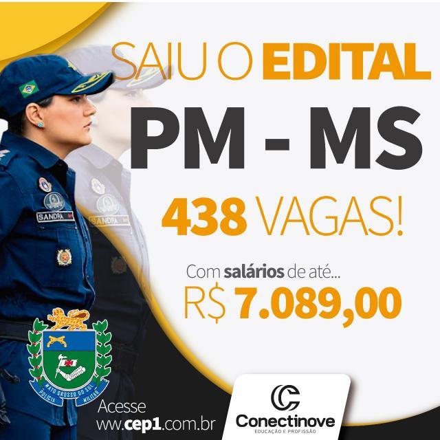 Polícia Militar do Mato Grosso do Sul abre concurso; oportunidade para estudantes em carreiras policiais