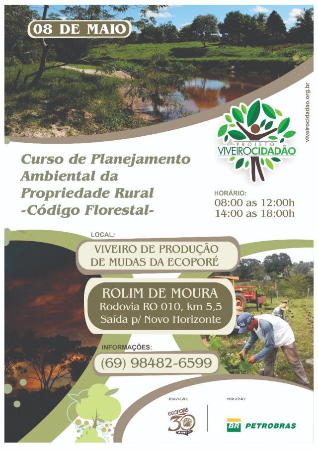 Ecoporé realizará curso de planejamento ambiental da propriedade rural
