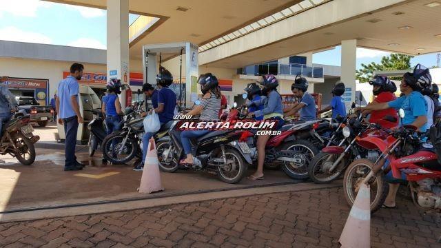 Rolim de Moura começa a ter falta de combustível e gás