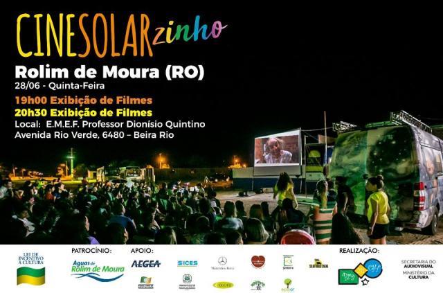 Cinesolarzinho chega em Rolim de Moura nesta quinta-feira, (28)