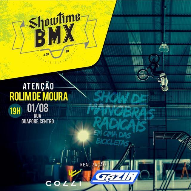 É Hoje: Gazin promoverá Show de Manobras Radicais com Bike, em Rolim de Moura