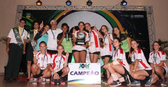Atletas das modalidades infantis comemoram as conquistas no Joer 2018