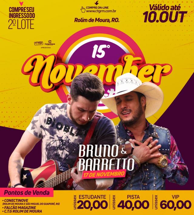 November Fest: Ingressos do segundo lote ficam disponíveis até o dia 10