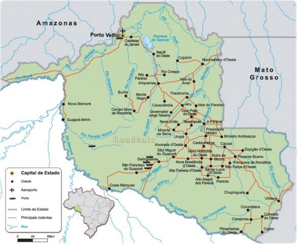 Governo e IBGE trabalham para estabelecer novos limites dos municípios de Rondônia