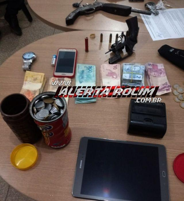 Após família ser mantida de refém e roubada por bandidos, 04 suspeitos são presos pela PM e PC