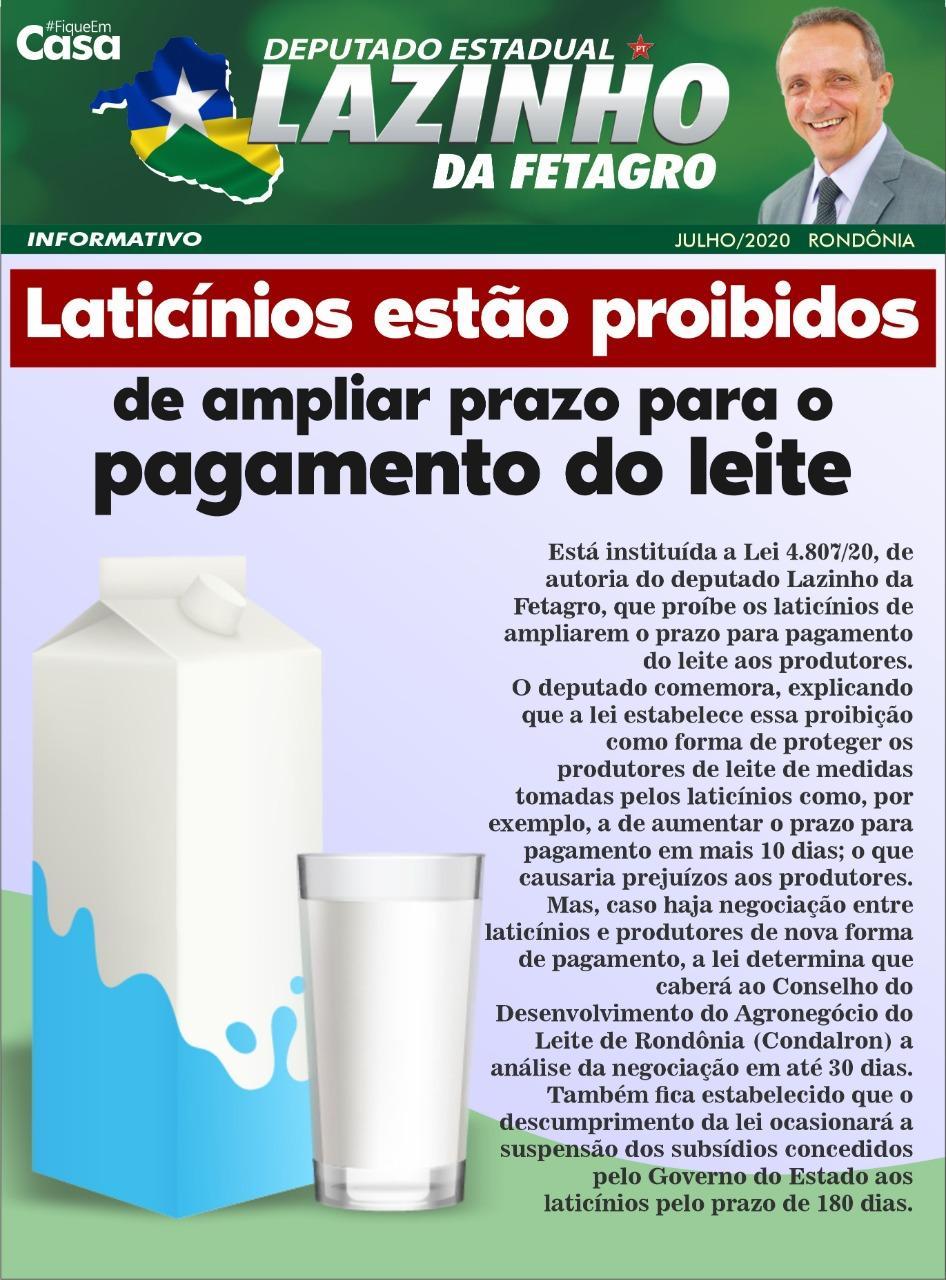 Informativo das ações do deputado Lazinho, no mês de Julho