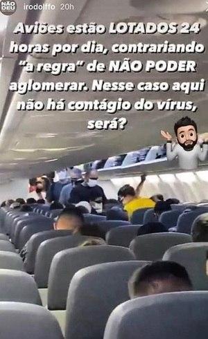 Sertanejo gera polêmica ao mostrar avião lotado