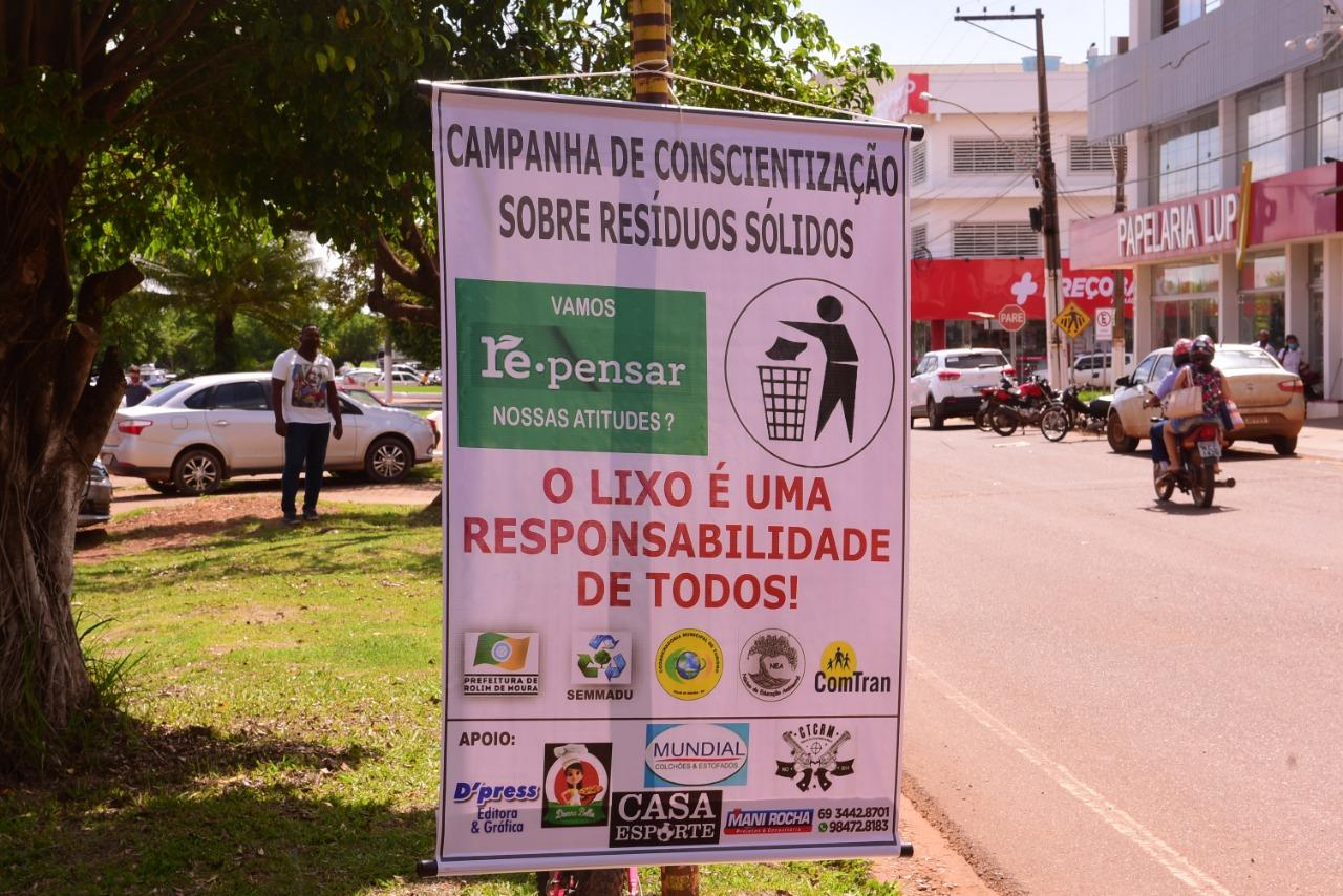 Semmadu realiza Pit Stop Educativo sobre resíduos sólidos em Rolim de Moura