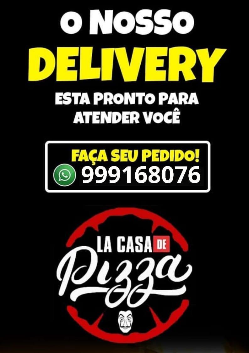 Feliz e pizza tem cinco letras. Não pode ser coincidência. Venha ser feliz na La Casa de Pizza !!!