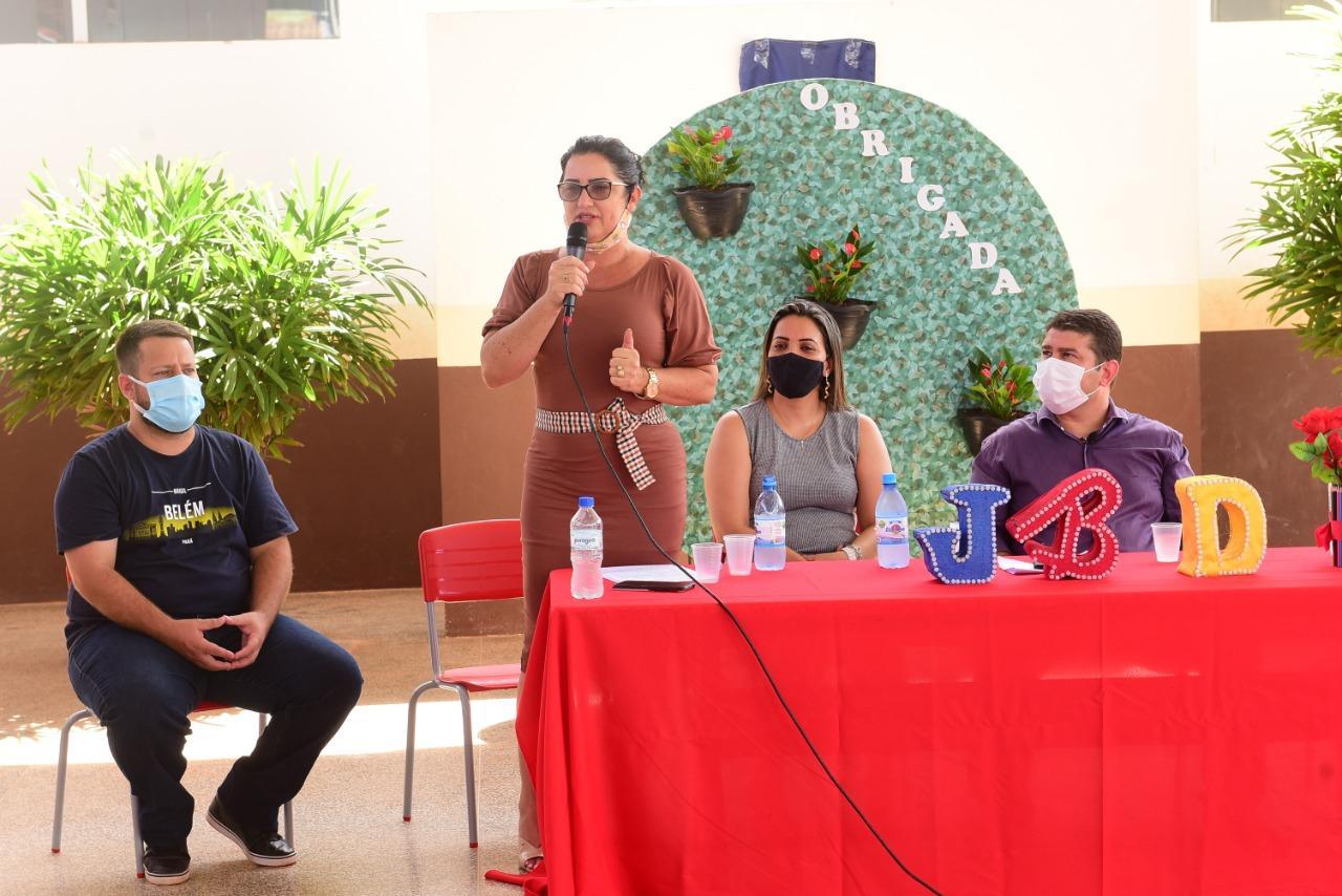Rolim de Moura: Inaugura a ampliação da Escola João Batista Dias