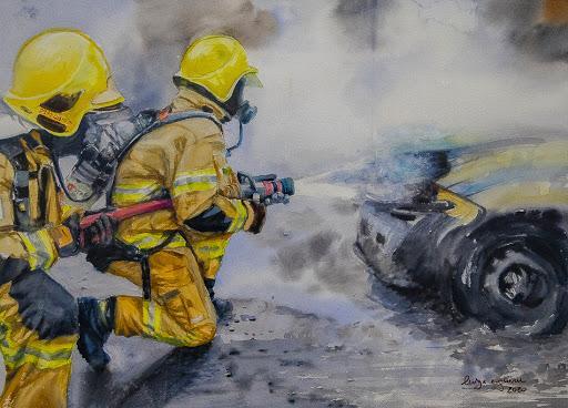 Exposição retrata do dia a dia do trabalho dos bombeiros em Brasília