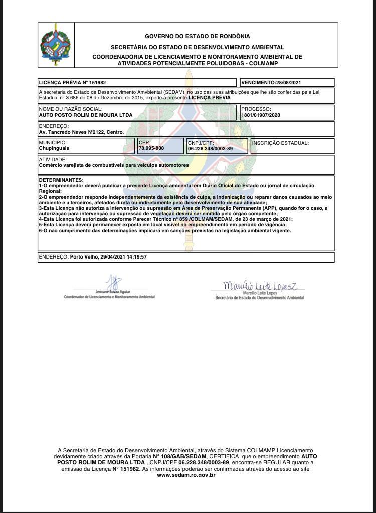 Licença Prévia Nº 151982