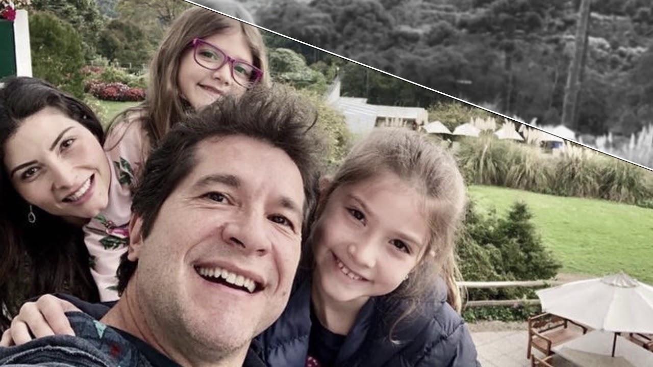 Cantor Daniel se emociona com a voz da filha