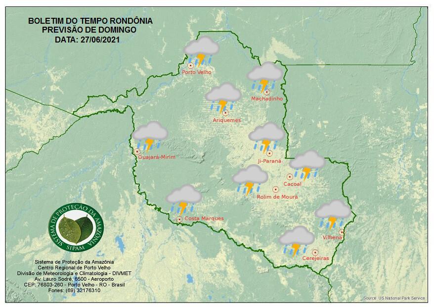 PREVISÃO DO TEMPO: Rondônia terá tempo nublado com nova friagem